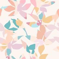 künstlerisches nahtloses Muster mit abstrakten Blumen vektor