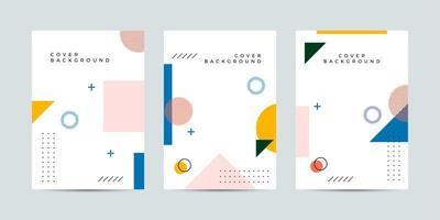 buntes Plakat im Memphis-Stil mit geometrischen Formen vektor