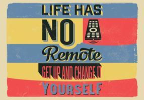Ändern Sie Ihr Leben Vektor