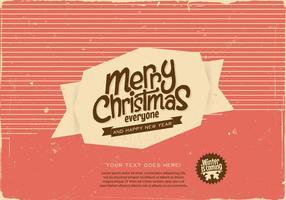 Striped Merry Christmas Label Vektor