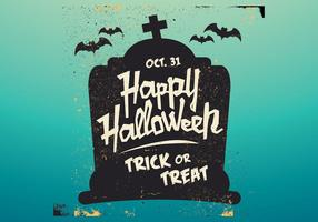 Gravsten halloween vektor