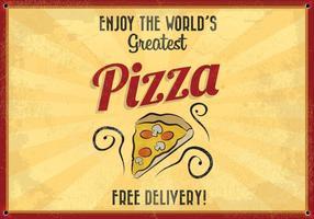 Världens största pizza vektor