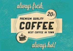 Varm kaffe logotyp vektor