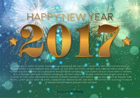 Frohes neues Jahr 2017 Vektor Hintergrund