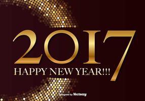 Gott nytt år 2017 Vector Bakgrund