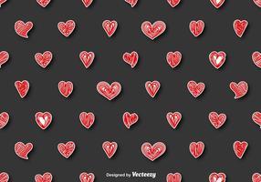 Vektor Nahtlose Muster - Gekritzel Herzen
