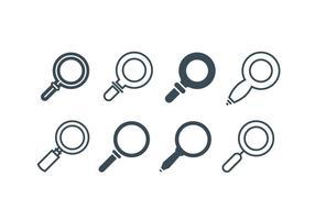 Vergrößerungsglas-Icons vektor