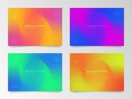 färgrik abstrakt holografisk kortuppsättning