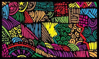 bunter Kunst abstrakter Bannerhintergrund vektor