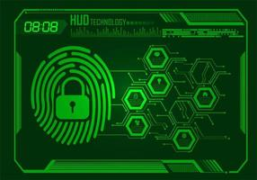 fingeravtryck nätverk cybersäkerhetsdesign vektor