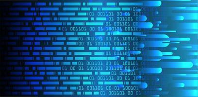 blå streckkod cyber krets framtida tech bakgrund vektor