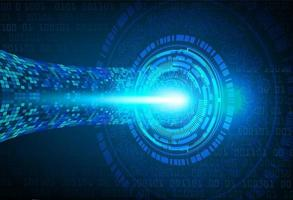 blå ögon cyber krets framtida tech koncept