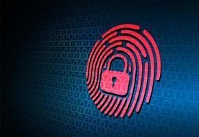 fingeravtryck nätverk cybersäkerhetsbakgrund vektor