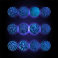 Weltkugeln für binäre Leiterplatten vektor