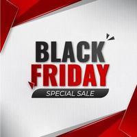 svart fredag special försäljning banner vektor