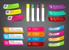 modern 3d infographics för textrutamall