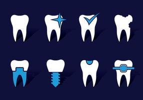 Dentistikoner vektor