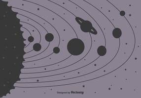 Sonnensystem Hintergrund vektor