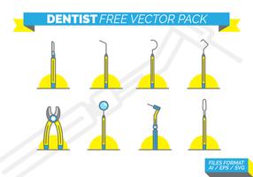 Dentista gratis vektorpack vektor
