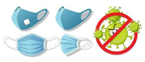 stoppa virus genom att bära mask