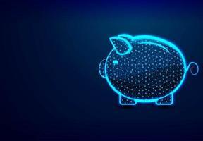 Sparschwein, Sparschwein sparendes Buchhaltungs- und Finanzkonzept vektor