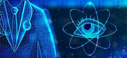 ögonläkare specialister abstrakt låg poly design vektor