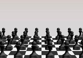 Schachbrettspielkonzept von Geschäftsideen und Wettbewerb
