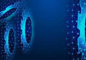Ausrüstung digitale Technologie und Technik vektor