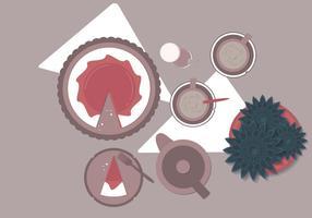 Vector Kuchen Und Pflanze Illustration