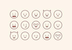 Vektor cute Emoticons gesetzt