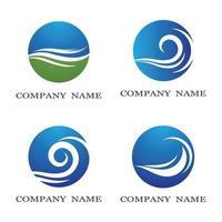 Wasserwellen-Logo eingestellt vektor