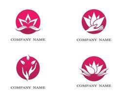 Lotus-Symbolsatz vektor