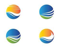 Sommer Kreis Logo Set vektor