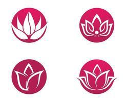 Lotus Symbol Kreis gesetzt vektor