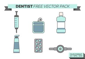 Dentista gratis vektorpack