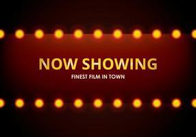 Hollywood-Lichter-Film-Schild-Schablone