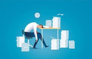 trött affärsman, överarbetande koncept vektor