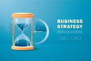 timglas som tid som passerar koncept för affärsgräns