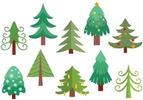 Gratis julgran vektorer