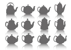 Kostenlose Teekanne Icons Vektor