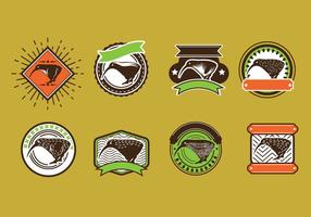 Set Vektorbild von Nizza Kiwi Vögel Logo oder Abzeichen Stil vektor