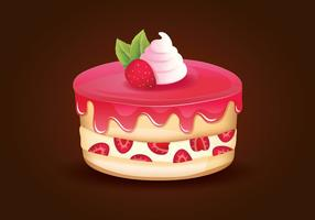 Erdbeer-Shortcake vektor