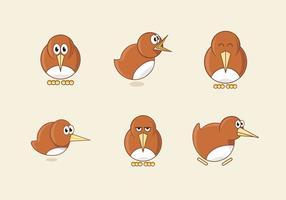 Kiwi Vogel Cartoon Illustration vektor