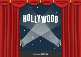 Hollywood Lights Vector Background