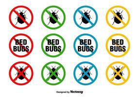 Bed Bugs Vektor Zeichen