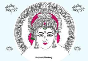 Hand gezeichnet Lakshmi Vektor