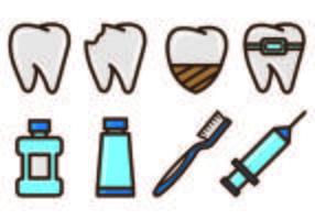 Set of Dentista Icons vektor