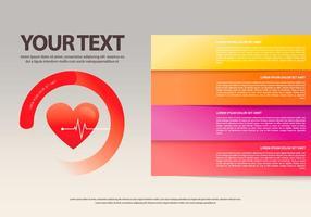 Hjärtfrekvent infografisk mall