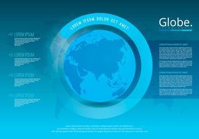 Globus infographic mall vektor