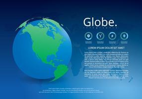 Globus Infografische Vorlage vektor